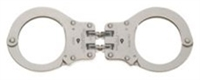 Peerless Hinged Nickel Handcuffs - Model 801